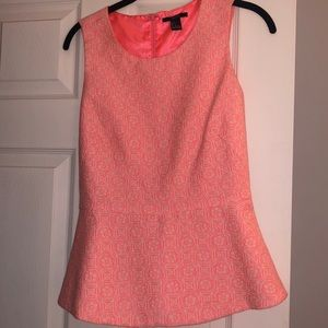 Pink and cream forever 21 peplum blouse.Size small